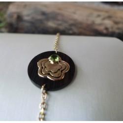 Bracelet or - Amour d'une fleur